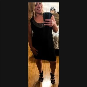 Adriana Papell NWT from Macy's black dress,sliming